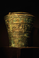 Slowenien, Novo Mesto, Dolenjski Museum, keltische Bronze.