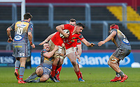 29th February 2020; Thomond Park, Limerick, Munster, Ireland; Guinness Pro 14 Rugby, Munster versus Scarlets; Arno Botha of Munster is tackled from behind