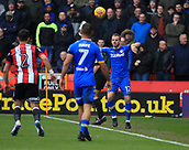 10th February 2018, Bramall Lane, Sheffield, England; EFL Championship football, Sheffield United versus Leeds United; Laurens De Bock of Leeds United takes a throw in