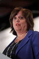 Montreal, CANADA, March 24, 2015.<br /> <br /> Sylvie Vachon, President and CEO of Montreal's Port Authority, speaks before the Board of Trade of Metropolitan Montreal <br /> <br /> PHOTO : Agence Quebec Presse - Pierre Roussel