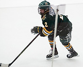 Kourtney Menches (UVM - 2) -  The Boston College Eagles defeated the University of Vermont Catamounts 4-3 in double overtime in their Hockey East semi-final on Saturday, March 4, 2017, at Walter Brown Arena in Boston, Massachusetts.