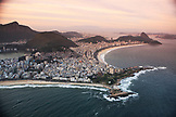BRAZIL, Rio de Janiero, an ariel view of Ipanema Beach which is located bewteen Leblon and Arpoador