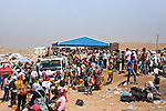August 2013 - Syrian refugees cross the Iraqi border in large numbers
