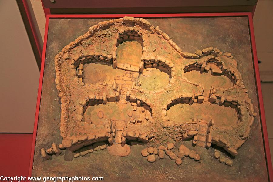 Ggantija temples model display in Archaeological museum, Rabat Victoria, Gozo, Malta