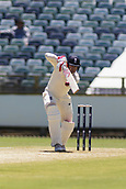 November 4th 2017, WACA Ground, Perth Australia; International cricket tour, Western Australia versus England, day 1; England player Mark Stoneman plays a defensive shot