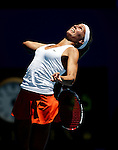 Argentina's Gisela Dulko in action against USA's Serena Williams in the second round of the women's singles