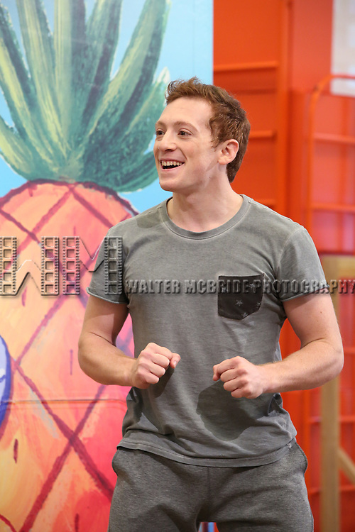 Ethan Slater during the Rehearsal Press Preview of the New Broadway  Musical on 'SpongeBob SquarePants'  on October 11, 2017 at the Duke 42nd Street Studios in New York City.