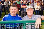 Richard Delaney (Ardfert) and Tony Hehir (Ballyheigue) pictured at the St Brendan's v Kilmoyley County Senior Hurling final on Sunday last