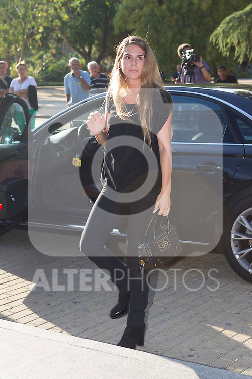 Maribel Yebenes´s daughter visits San Isidro funeral home following the death of Miguel Boyer in Madrid, Spain. September 29, 2014. (ALTERPHOTOS/Victor Blanco)