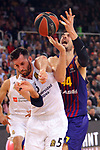 Turkish Airlines Euroleague 2018/2019. <br /> Regular Season-Round 24.<br /> FC Barcelona Lassa vs R. Madrid: 77-70. <br /> Rudy Fernandez vs Ante Tomic.