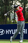 Soo-Hwa Jang of Korea in action during the Hyundai China Ladies Open 2014 Pro-am on December 12 2014 at Mission Hills Shenzhen, in Shenzhen, China. Photo by Li Man Yuen / Power Sport Images