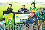Pictured at the launch of the new Kerry GAA Website and iPhone app were Senior Kerry Footballers Marc O'Shea, Kerry Supporter James Rusk and Kerry County Board Chairman Patrick O'Sullivan.