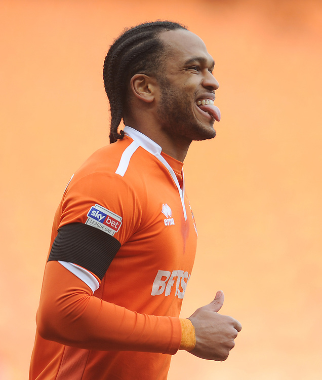 Blackpool's Nathan Delfouneso<br /> <br /> Photographer Kevin Barnes/CameraSport<br /> <br /> The EFL Sky Bet League One - Blackpool v Walsall - Saturday 9th February 2019 - Bloomfield Road - Blackpool<br /> <br /> World Copyright &copy; 2019 CameraSport. All rights reserved. 43 Linden Ave. Countesthorpe. Leicester. England. LE8 5PG - Tel: +44 (0) 116 277 4147 - admin@camerasport.com - www.camerasport.com