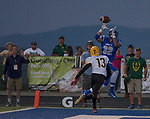 McQueen's Alec Crosby brings down a pass in the endzone for a touchdown in their football game against Manogue played at McQueen High School on Friday, September 1, 2017.