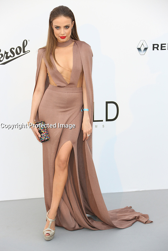 XENIA TCHOUMI<br /> amfAR Gala Cannes 2017 - Arrivals<br /> CAP D'ANTIBES, FRANCE - MAY 25 arrives at the amfAR Gala Cannes 2017 at Hotel du Cap-Eden-Roc on May 25, 2017 in Cap d'Antibes, France