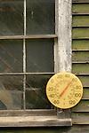 Old temperature dial at Maynards Lodge, Rockwood, ME