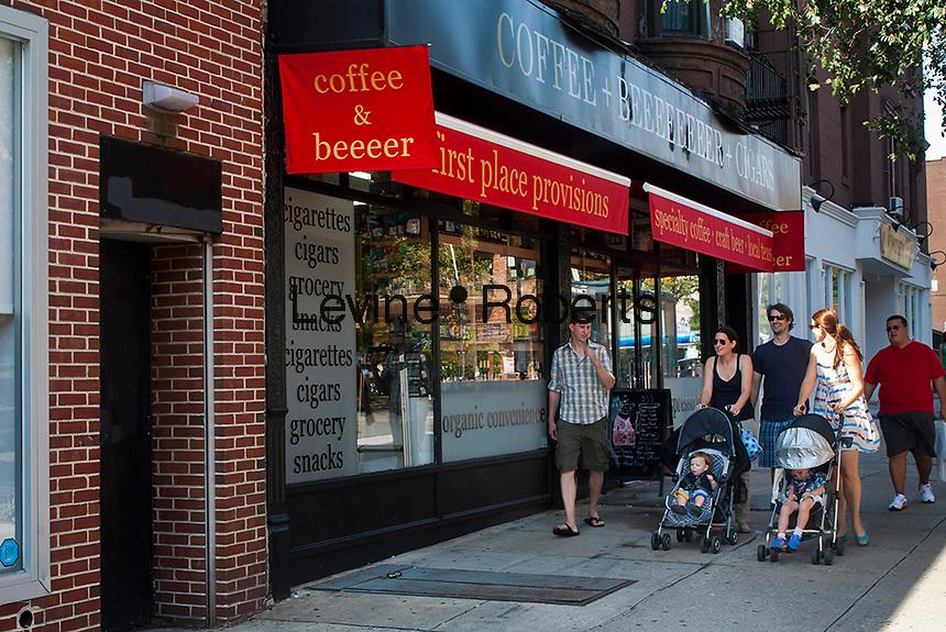 Activity along Court Street in the Carroll Gardens neighborhood of Brooklyn in New York on Saturday, September 8, 2012. (© Richard B. Levine)