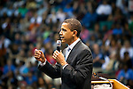 Then Senator Barack Obama at Reunion Arena in Dallas, Texas during presidential primary season.