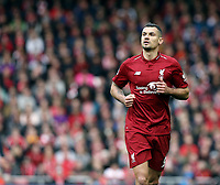 Liverpool's Dejan Lovren<br /> <br /> Photographer Rich Linley/CameraSport<br /> <br /> The Premier League - Liverpool v Manchester City - Sunday 7th October 2018 - Anfield - Liverpool<br /> <br /> World Copyright &copy; 2018 CameraSport. All rights reserved. 43 Linden Ave. Countesthorpe. Leicester. England. LE8 5PG - Tel: +44 (0) 116 277 4147 - admin@camerasport.com - www.camerasport.com