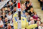Freude bei: Tobias Thulin (SC Magdeburg #12) beim Spiel in der Handball Bundesliga, TVB 1898 Stuttgart - SC Magdeburg.<br /> <br /> Foto © PIX-Sportfotos *** Foto ist honorarpflichtig! *** Auf Anfrage in hoeherer Qualitaet/Aufloesung. Belegexemplar erbeten. Veroeffentlichung ausschliesslich fuer journalistisch-publizistische Zwecke. For editorial use only.