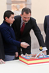 King Felipe IV of Spain during the reception to the winners of the contest 'Que es un rey para ti - What is a king for you?'. December 12,2016. (ALTERPHOTOS/Acero)