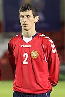 Vaspurak Minasyan  in the Scotland v Armenia UEFA European Under-19 Championship Qualifying Round match at New Douglas Park, Hamilton on 9.10.12.