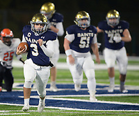 NWA Democrat-Gazette/ANDY SHUPE<br /> Shiloh Christian quarterback Eli Reece (3) carries the ball Friday, Nov. 29, 2019, during the first half of play against Nashville at Champions Stadium in Springdale. Visit nwadg.com/photos to see more photographs from the game.