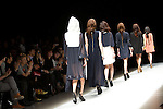 "October 16, 2012, Tokyo, Japan - Models walk down the catwalk wearing ""tiit"" during the Mercedes-Benz Fashion Week Tokyo 2013 Spring/Summer. Fashion week in Tokyo runs from October 13-20. (Photo by Christopher Jue/Nippon News)"
