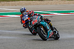 FABIO QUARTARARO (20) and Miguel Oliveira (88) in action before the Red Bull Grand Prix of the Americas race at the Circuit of the Americas racetrack in Austin,Texas.