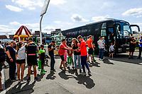 GRONINGEN - Voetbal, Opendag FC Groningen, seizoen 2018-2019, 05-08-2018,  spelersbus