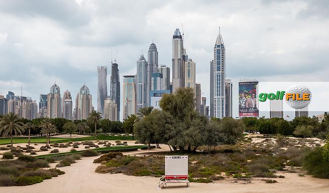 The Dubai metropolis ahead of the 2016 Omega Dubai Desert Classic played at the Emirates Golf Club, Dubai, United Arab Emirates.  30/01/2016. Picture: Golffile | David Lloyd<br /> <br /> All photos usage must carry mandatory copyright credit (&copy; Golffile | David Lloyd)