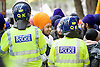 Sikh Protest counter demonstration outside the Waldorf Hotel in Aldwych, London, Great Britain <br /> 22nd October 2015 <br /> <br /> UK SIKH SANGAT, PANTHIC ORGANISATIONS, GURDWARA'S, YOUTH GROUPS &amp; PARCHARAK'S PROTEST AGAINST DESECRATION OF SRI GURU GRANTH SAHIB JI &amp; KILLING OF INNOCENT SIKH PROTESTERS ACROSS INDIA<br /> <br /> Photograph by Elliott Franks <br /> Image licensed to Elliott Franks Photography Services