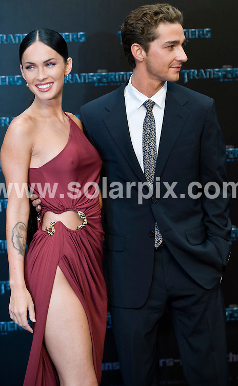 **ALL ROUND PICTURES FROM SOLARPIX.COM**.**SYNDICATION RIGHTS FOR UK AND SPAIN ONLY**.the 'Transformers 2 - Revenge Of the Fallen' premiere at the Sony Center in Berlin, Germany. 14 June 2009..This pic: Megan Fox and Shia LaBeouf..JOB REF: 9228 CPR (Grimm)       DATE: 14_06_2009.**MUST CREDIT SOLARPIX.COM OR DOUBLE FEE WILL BE CHARGED**.**ONLINE USAGE FEE GBP 50.00 PER PICTURE - NOTIFICATION OF USAGE TO PHOTO @ SOLARPIX.COM**.**CALL SOLARPIX : +34 952 811 768 or LOW RATE FROM UK 0844 617 7637**