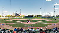 A look at Banner Island Ballpark, home of the Stockton Ports, during a California League game between the San Jose Giants and the Stockton Ports on April 9, 2019 in Stockton, California. San Jose defeated Stockton 4-3. (Zachary Lucy/Four Seam Images)