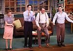 Sophie von Haselberg, Drew Gehling, Larry Pine and Vincent Kartheirser during the Off-Broadway opening Night Performance Curtain Call for 'Billy & Ray' at the Vineyard Theatre on October 20, 2014 in New York City.