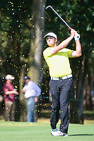 Jon Rahm (ESP) hits his approach shot on 6 during round 2 of the World Golf Championships, Mexico, Club De Golf Chapultepec, Mexico City, Mexico. 3/3/2017.<br /> Picture: Golffile | Ken Murray<br /> <br /> <br /> All photo usage must carry mandatory copyright credit (&copy; Golffile | Ken Murray)