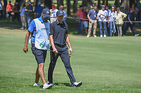 Jordan Spieth (USA) and his caddie, Michael Greller chat on 2  during round 4 of the World Golf Championships, Mexico, Club De Golf Chapultepec, Mexico City, Mexico. 3/4/2018.<br /> Picture: Golffile | Ken Murray<br /> <br /> <br /> All photo usage must carry mandatory copyright credit (&copy; Golffile | Ken Murray)