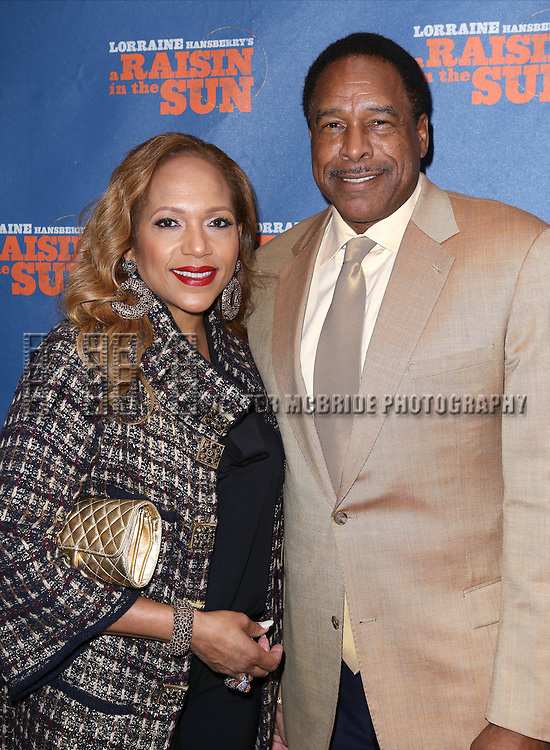 Tonya Winfield and Dave Winfield attending the Broadway Opening Night Performance of 'A Raisin In The Sun'  at the Barrymore Theatre on April 3, 2014 in New York City.