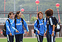 (L to R) Aya Sameshima, Homare Sawa, Mizuho Sakaguchi (JPN), September 10, 2011 - Football / Soccer : Women's Asian Football Qualifiers Final Round for London Olympic, Japan National Team Training at Jinan Olympic Sports Center Training Ground, Jinan, China. (Photo by Daiju Kitamura/AFLO SPORT) [1045]