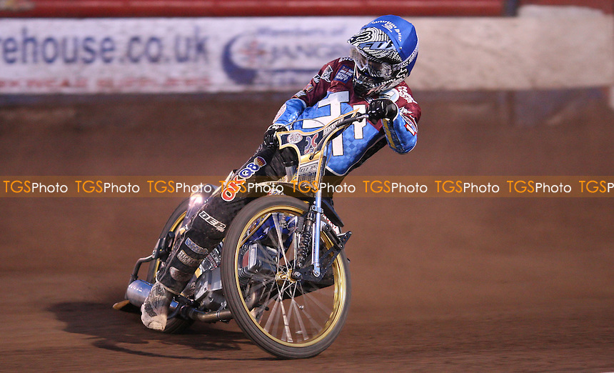Kim Nilsson of Lakeside Hammers - Lakeside Hammers vs Peterborough Panthers, Elite League Speedway at the Arena Essex Raceway, Pufleet - 11/05/12 - MANDATORY CREDIT: Rob Newell/TGSPHOTO - Self billing applies where appropriate - 0845 094 6026 - contact@tgsphoto.co.uk - NO UNPAID USE..