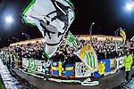 S&ouml;dert&auml;lje 2014-04-07 Fotboll Superettan Assyriska FF - Hammarby IF :  <br /> Hammarbys supportrar &auml;r glada efter matchen<br /> (Foto: Kenta J&ouml;nsson) Nyckelord:  Assyriska AFF S&ouml;dert&auml;lje Hammarby HIF Bajen supporter fans publik supporters jubel gl&auml;dje lycka glad happy