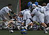 Kellenberg teammates celebrate after their 11-9 win over Iona Prep in the CHSAA varsity boys lacrosse Class AA Intersectional Final at Kellenberg High School on Friday, May 26, 2017.