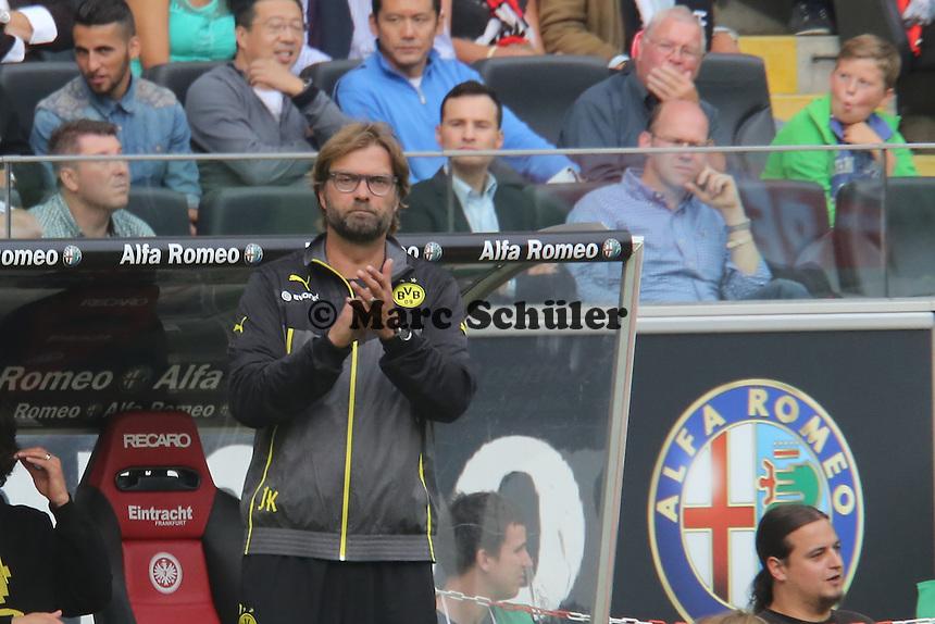 Trainer Juergen Klopp (Eintracht) - Eintracht Frankfurt vs. Borussia Dortmund