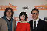 Jonathan Krisel (writer & director), Carrie Brownstein and Fred Armisen  attend the Portlandia Season 2 Premiere Screening on January 5, 2012 at the American Museum of Natural History, New York City, New York. (Photo by Sue Coflin/Max Photos)