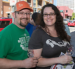 Tim and Katie Smailes during the Reno Wine Walk in downtown Reno on Saturday, June 17, 2017.