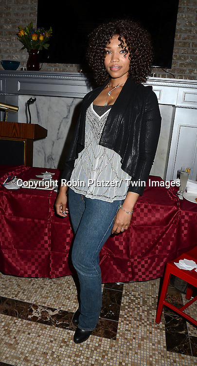 """Tia Dionne Hodge-Jones , who was on One Life to Live,at her book signing party on May 29, 2014 at Tryp by Wyndham Times Square South in New York City, New York, USA. The Book is called """"Play. Speak. Modern Monologues for the Modern Young Actor""""."""