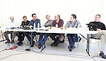 Director Daniel Sullivan, Al Pacino, Bobby Cannavale, David Harbour, Richard Schiff, Jeremy Shamos & John C. McGinley attending the 'Glengarry Glen Ross' Media Day at Ballet Hispanico Rehearsal Studios in New York City on 9/19/2012.