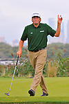 29 August 2009: Steve Marino after making birdie on the 14th hole during the third round of The Barclays PGA Playoffs at Liberty National Golf Course in Jersey City, New Jersey.