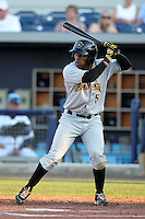 Bradenton Marauders infielder Gift Ngoepe #5 during a game against the Charlotte Stone Crabs at Charlotte Sports Park on April 27, 2012 in Port Charlotte, Florida.  Bradenton defeated Charlotte 9-2.  (Mike Janes/Four Seam Images)
