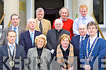 Members of Killarney Chamber of Commerce welcome some of Monseinor Hugh O'Flaherty family to the Malton Hotel Killarney on Friday for a lunch in his memory front row l-r: Donnacha Galvin Killarney Chamber of Commerce President, Dr Veronica Dineen, Pearl Dineen, Patrick O'Donoghue Killarney Mayor. Back row: Cllr Michael Courtney, Con Dineen, Jerry O'Grady, Fr Pat Horgan, Cllr Michael Gleeson Senator Paul Coughlan and Cormac Dineenht   Copyright Kerry's Eye 2008